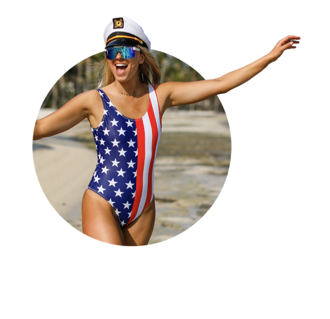 The Summer Snack American Flag One Piece Swimsuit